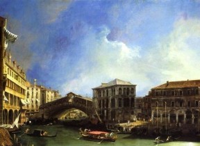 Grand Canal: the Rialto Bridge from the North